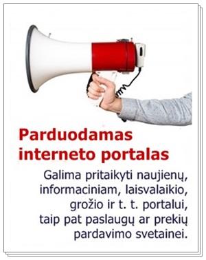 Parduodamas interneto portalas